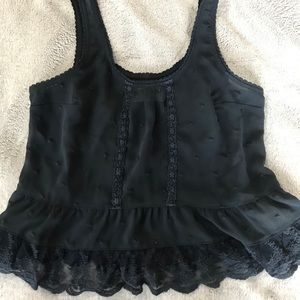 A&F sheer blouse